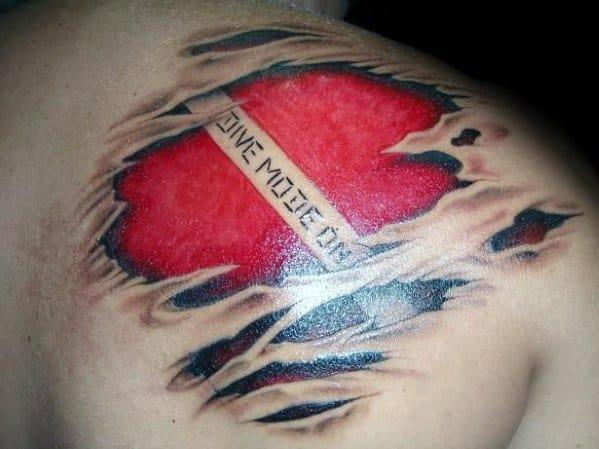 Mens Dive Flag Tattoo Designs