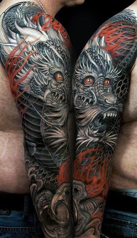 Men's Dragon Tattoo Ideas