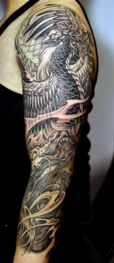 50 deadly dragon tattoos for men manly mythical monsters