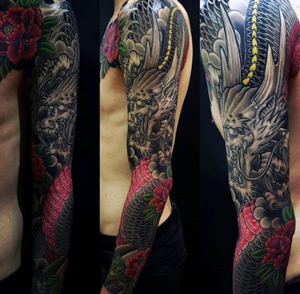 Men's Dragon Tattoos