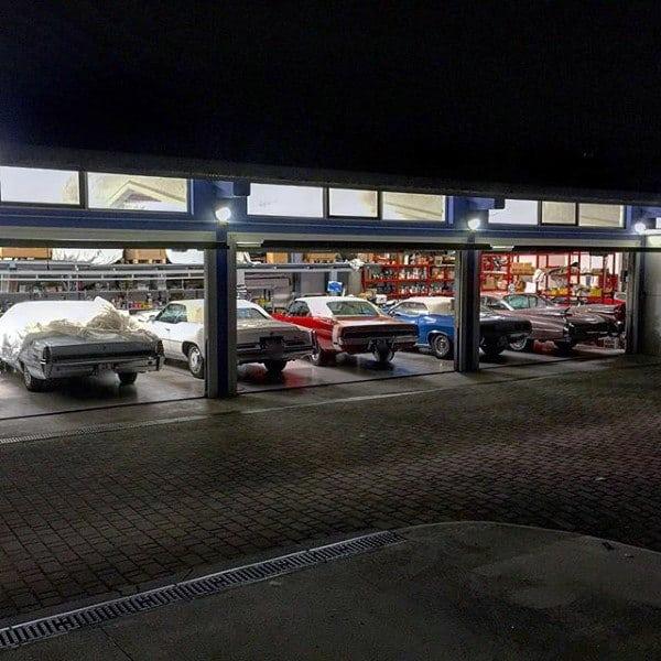 Mens Dream Garage Full Of Vintage Muscle Cars