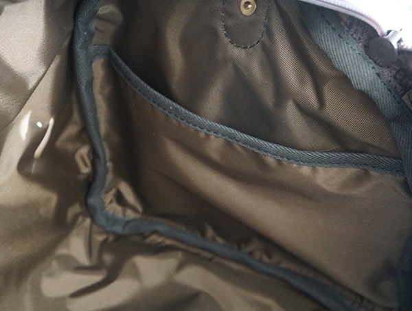 Mens Duluth Pack Bison Leather Sportsman Duffel Interior Pocket Compartment