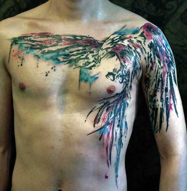 Men's Eagle Chest Tattoo Designs