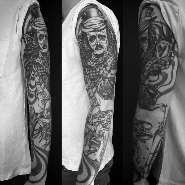 Mens Edgar Allan Poe Tattoo Designs