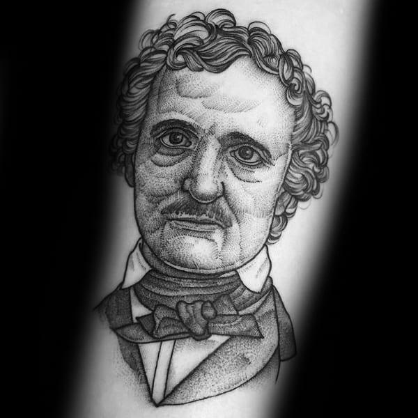 Mens Edgar Allan Poe Tattoo