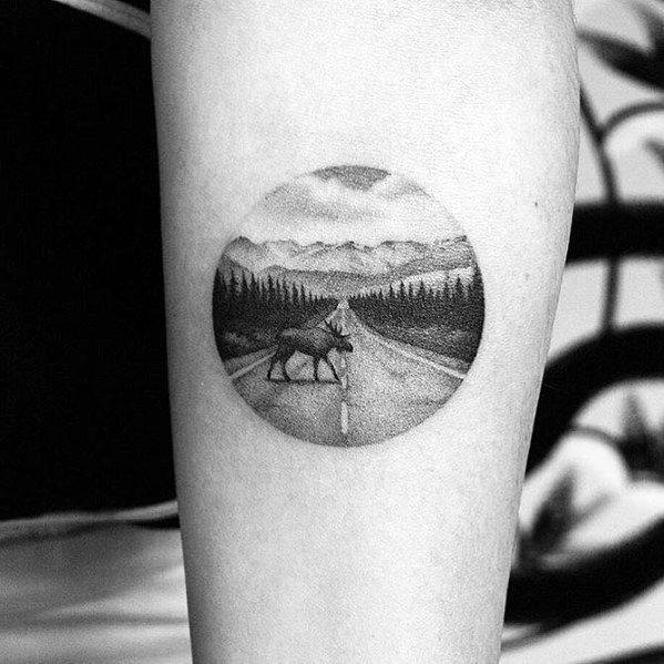 Mens Elk Tattoo Ideas