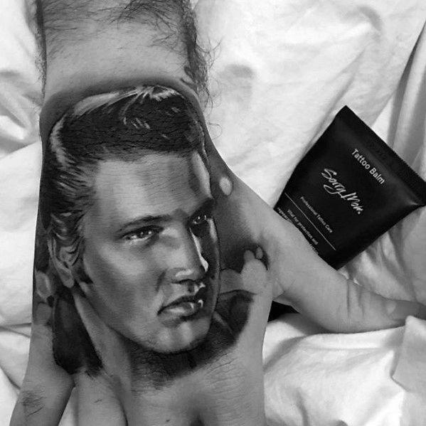 Mens Elvis Presley Hand Tattoo Ideas