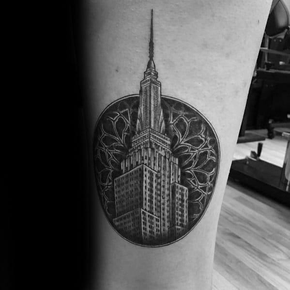 50 Empire State Building Tattoo Ideas For Men Skyscraper
