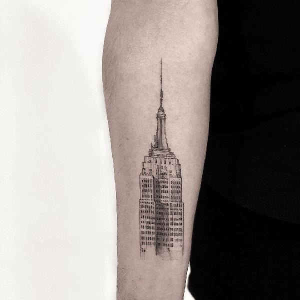 Mens Empire State Building Tattoo Ideas