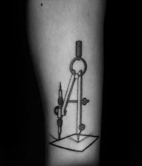 Mens Engineering Tattoo Design Inspiration