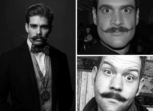 Mens English Mustache Style