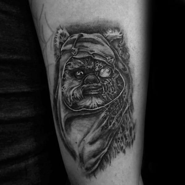 Mens Ewok Tattoo Design Inspiration