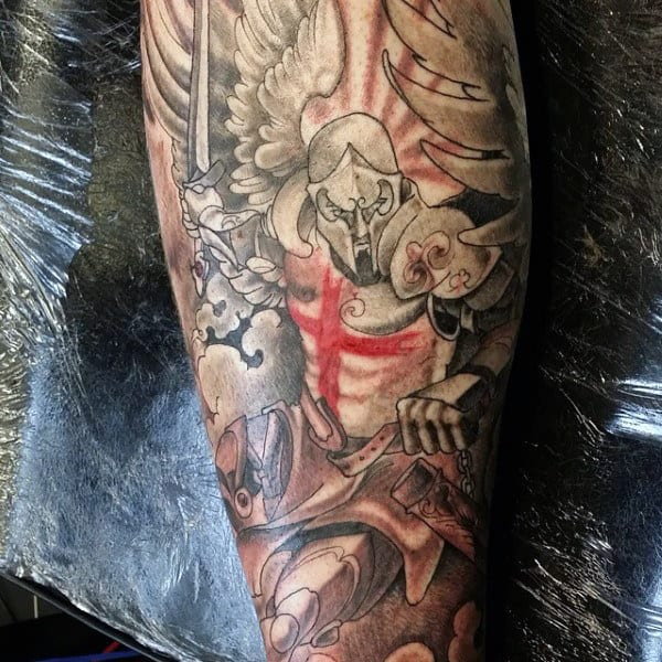 Men's Fallen Angel Tattoo