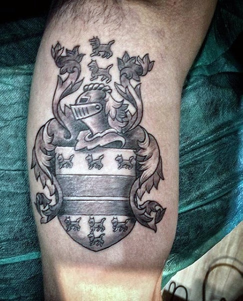 Tattoo Ideas For Family: 50 Family Crest Tattoos For Men