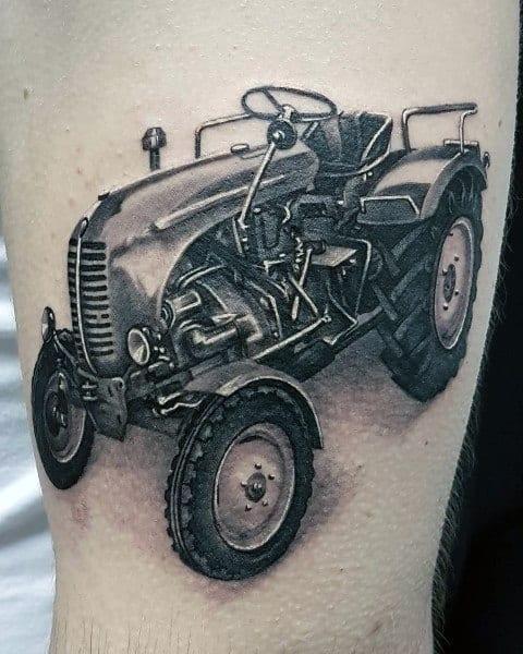 Mens Farming Tattoo Designs