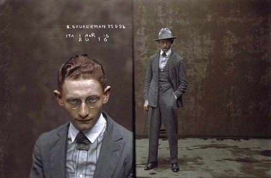 Mens Fashion 1920s Gangster Vintage Mugshot