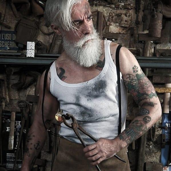 Mens Fashion Grey Beard Styles