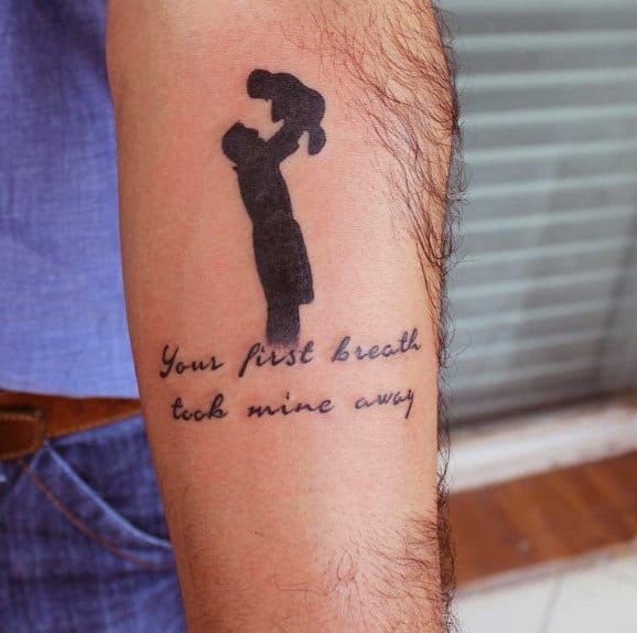 Mens Father Son Tattoos With Quote