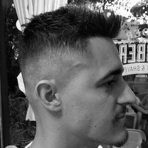 Mens Faux Hawk High Fade Haircut Style