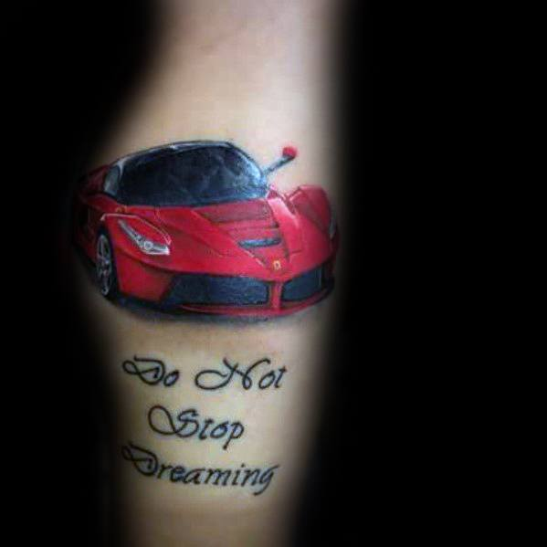 Mens Ferrari Tattoo Designs
