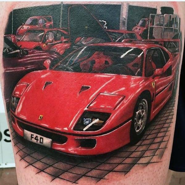 Mens Ferrari Tattoo Ideas