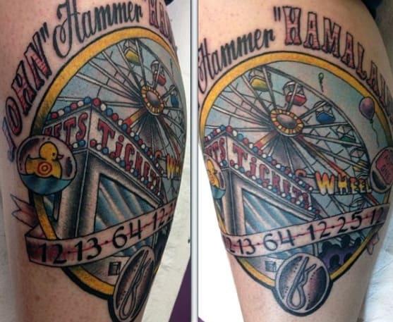 Mens Ferris Wheel Tattoo Designs