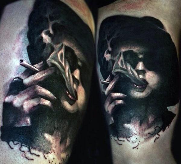Mens Fight Club Marla Singer Inner Arm Tattoo