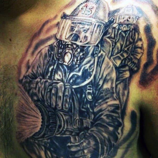 Men's Firefighter Tattoo Designs