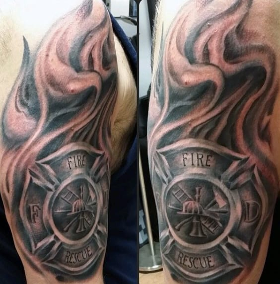 Men's Firefighting Tattoos