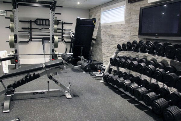 mens fitness home gym room designs - In Home Gym Designs