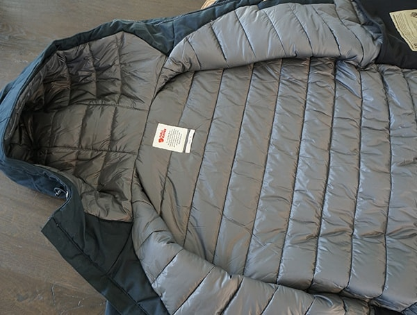 Mens Fjallraven Skogso Padded Jacket Interior