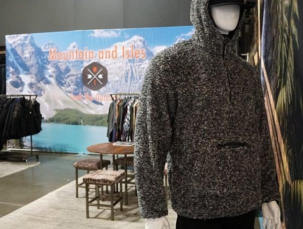 Mens Fleece Mountain And Isles Jacket