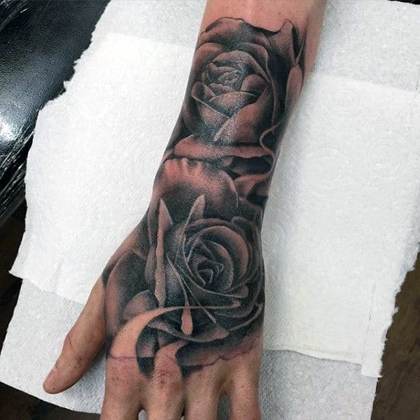 50 flower tattoos for men a bloom of manly design ideas. Black Bedroom Furniture Sets. Home Design Ideas