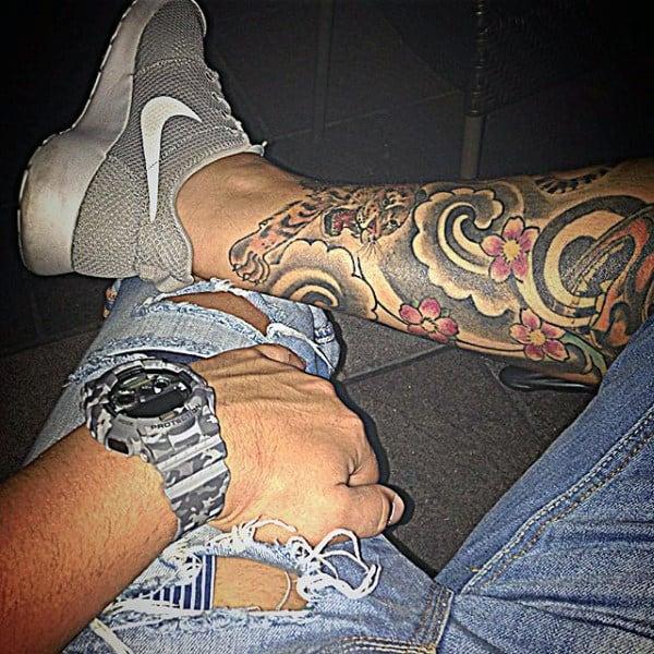 Jasmine Flower Tattoo Sleeve
