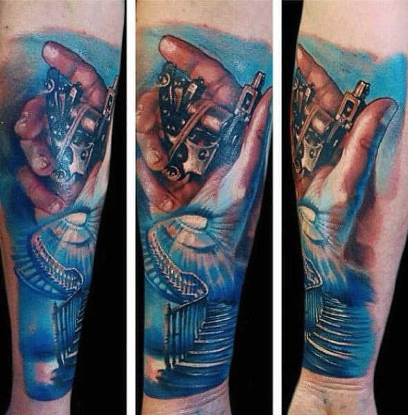 Mens Forearm Heaven Tattoo Design Ideas