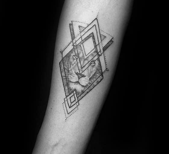 nextluxury Small Lion Forearm 3 Tattoos