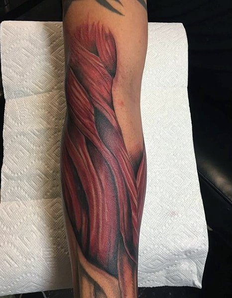 Mens Forearm Muscle Tattoos