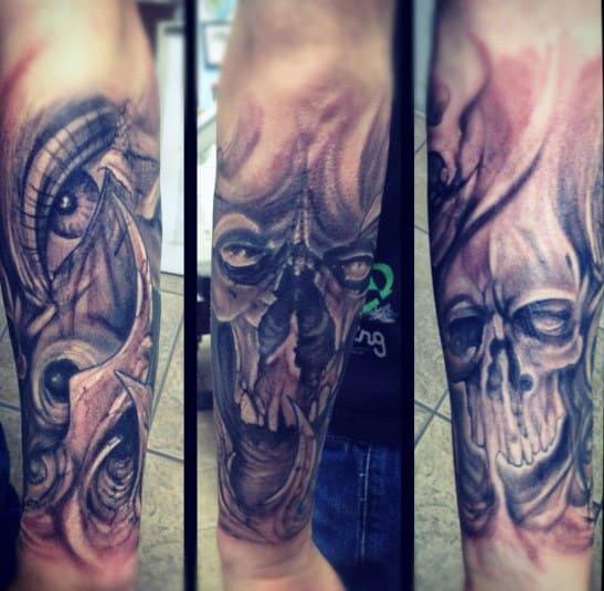 Men's Forearm Skull Tattoo Ideas