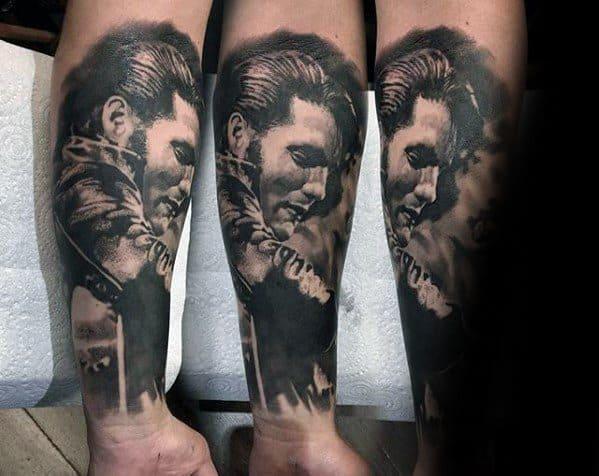 Mens Forearm Sleeve Elvis Presley Tattoo Design Inspiration