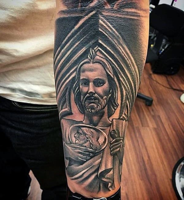 Mens Forearm Sleeve St Jude Tattoos
