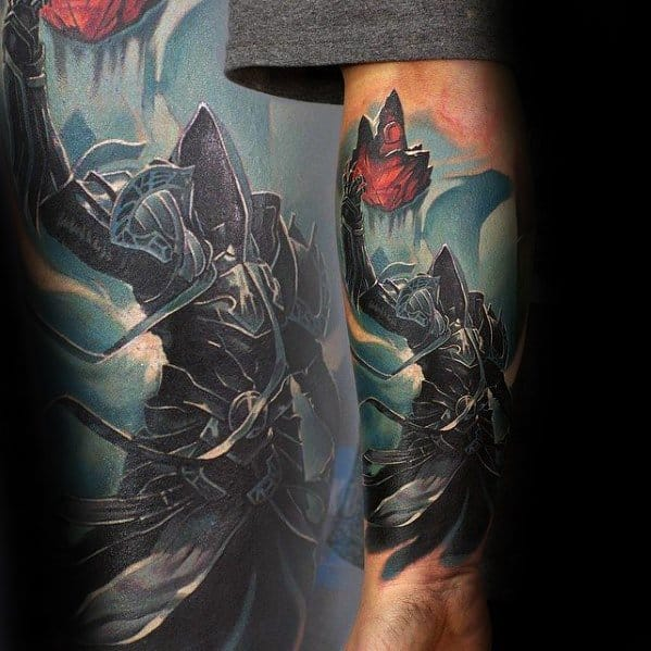 Mens Forearm Tattoo Gamer Design