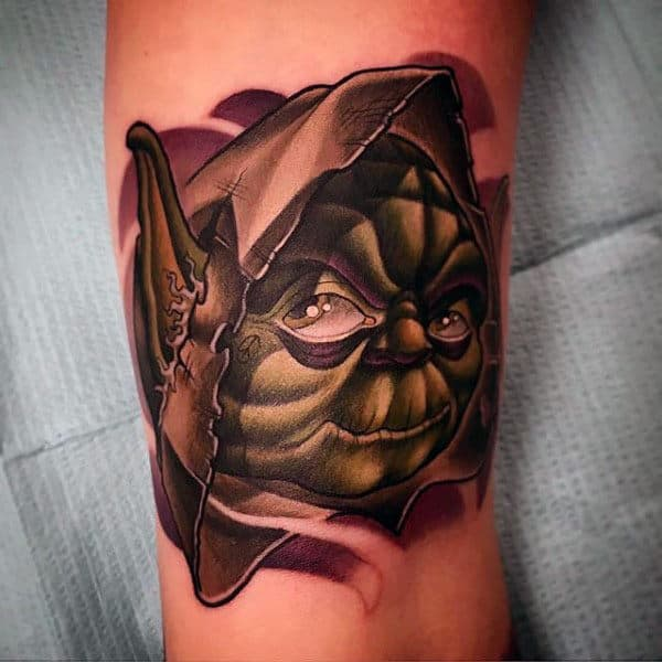Mens Forearms Alien Starwars Tattoo
