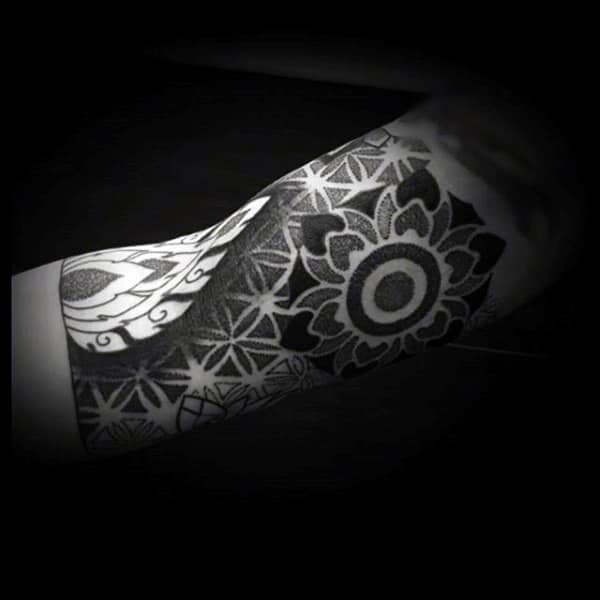 Mens Forearms Amazing Dotwork Tattoo