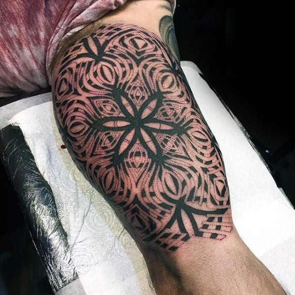 Mens Forearms Best Dotwork Tattoo