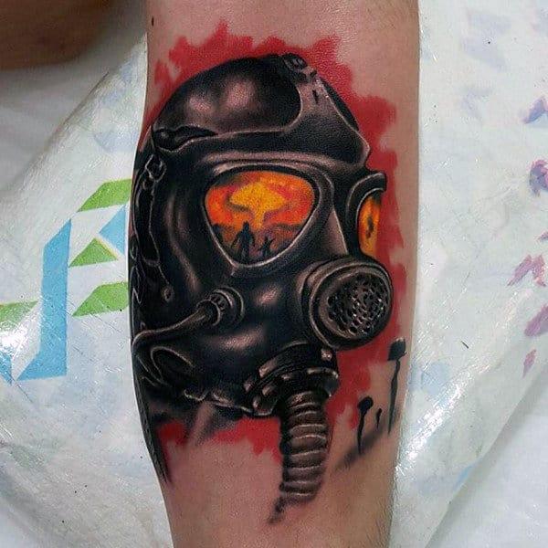 Mens Forearms Bomb Squad Tattoo Inspiration