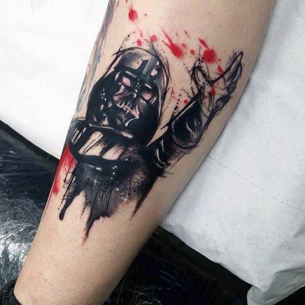Mens Forearms Darth Vader Tattoo