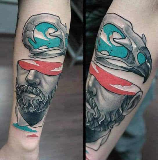 mens-forearms-modern-art-blindfolded-man-tattoo