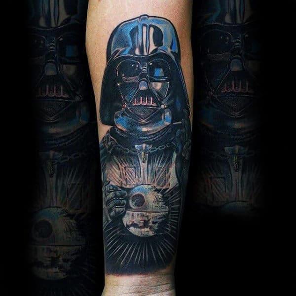 Mens Forearms Phenomenal Darth Vader Tattoo