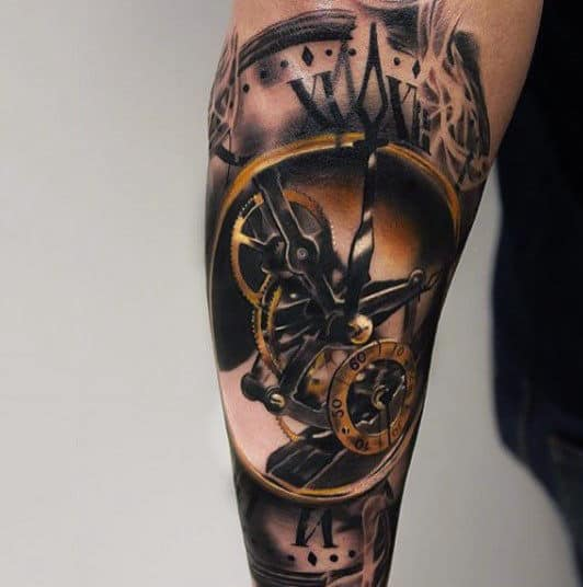 Download Best Tattoo Pictures: 100 Pocket Watch Tattoo Designs For Men