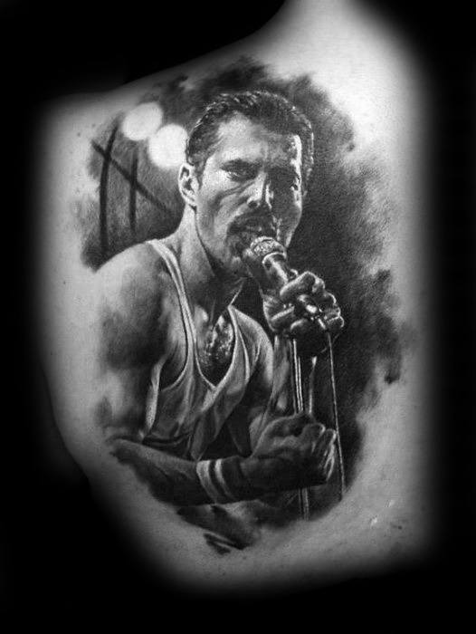 Mens Freddie Mercury Tattoo Ideas On Shoulder